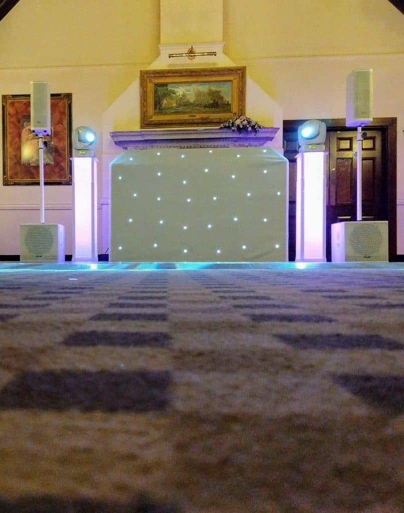 White wedding disco in Norwich, Norfolk